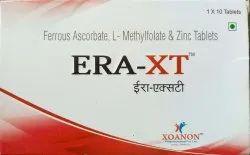 ERA-XT Ferrous Ascorbate, L-Methylfolate and Zinc Tablet
