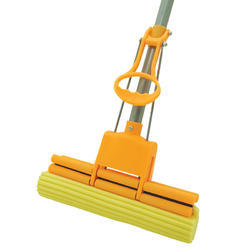 Yellow Polyester Plastic Roller Mop, For Floor Cleaning, Size: 125 Cm