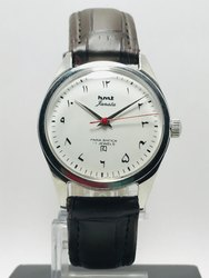 Men Round HMT Janata Urdu White Dial Hand Winding Watch 17 Jewel, For Daily