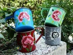 Handpainted Steel Mug, For Home