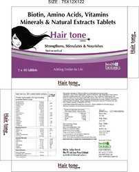 Biotine, Amino Acid, Vitamins Minerals & Naturals Extracts Tablets