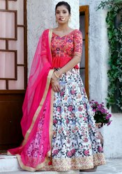 Multicolor Silk Lehenga Choli