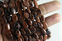 Natural Mahogany Obsidian Smooth Oval Beads