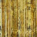 Podcart Vertical Golden Foil Curtain, For Parties, Size: 6feet
