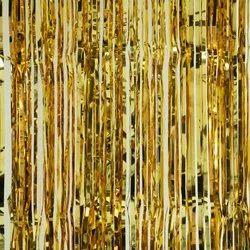 Golden Foil Curtain