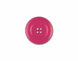 Pink Round Plastic Button, For Garments