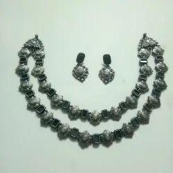 Silver Oxidize Necklace