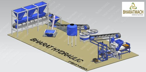 Fully Automatic Fly Ash Brick & Block Making Machine Plant with Batching System