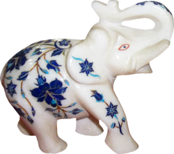 Marble Inlay Design Elephant Statue