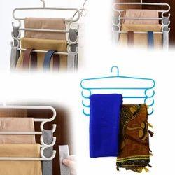 4 in 1 Hanger, DeoDap Clothing Storage - 4 in 1 Multipurpose Plastic Hanger