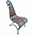 Black And Brown Mild Steel Chair