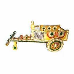 Meenakari Wooden Cart, Size: 10 x 15 Inch
