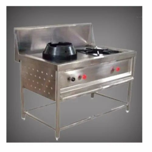 Stainless Steel Polished Chinese Cooking Range