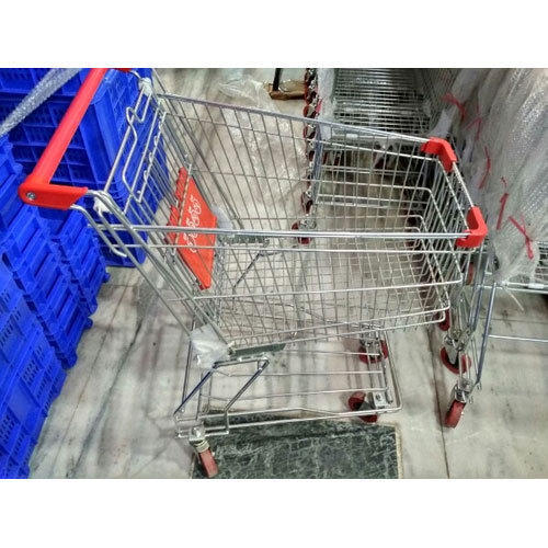Stainless Steel Supermarket Shopping Trolley 60 Liter