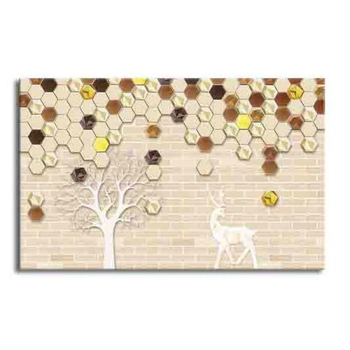 Wooden Framed Canvas Canvas Fabric Wall Painting, Size: 60 (l) X 40 (h) Inch, Packaging Type: Packet