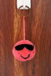 Soft Pom Pom Toy Keychain