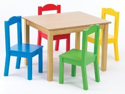 Brown Preschool Wooden Furniture Set