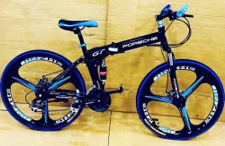 PORSCHE BLACK FOLDABLE CYCLE