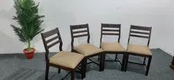 45x45x90 Cm Walnut Wooden Chairs, For Home