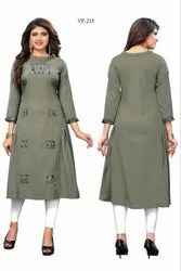 Heavy Flax Cotton Kurti