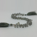 Natural Gray Moonstone Faceted Teardrops Briolette Drops