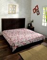 Paisley Printed Kantha Decorative Single Bed Sheet