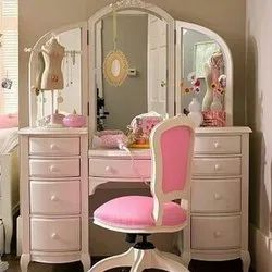 Mirror Wooden Dressing Table