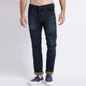 Men Laser Washed Jeans