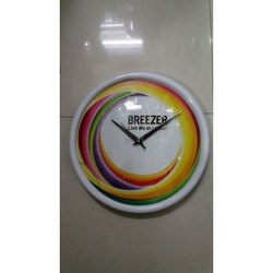 Plastic Printed Promotional Round Wall Clock, Warranty: 1 Years