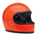 Youth Orange Full Face Helmet, Size: Md