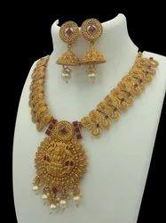 D 5047 Ruby Matte Finish Jewellery Set