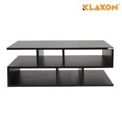 Wooden LED TV Stand with Open Shelves for Storage