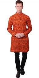 Spiritual Wear Printed Om Namah Shivay Kurta, Size: 44.0