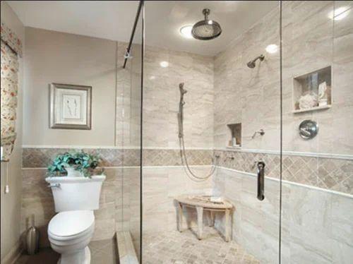 Cream Marble Tiles Bathroom Nav