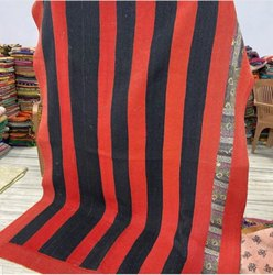 Black And Red Vintage Kantha Quilt
