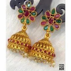 Traditional Golden Artificial Earring
