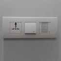 White Electric Modular Switch
