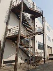 Mild Steel Exit Emergency Stair Case