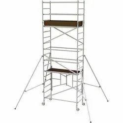 Silver Approx 16ft Mobile Scaffold Tower