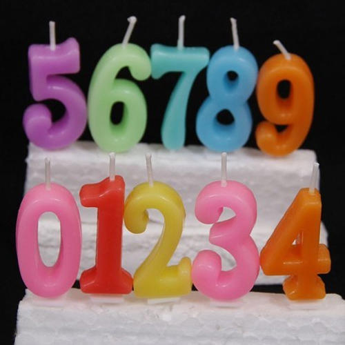 Number Birthday Party Candle