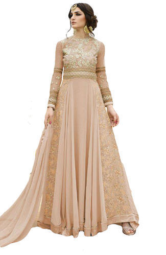 Embroidery Party Wear Engagement Wear Heavy Anarkali Suits Dress