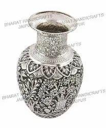 Oxidised Metal Flower Vase