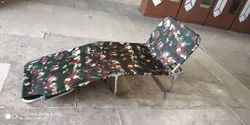 leon SS steel Folding Bed With Headrest Fully Relax