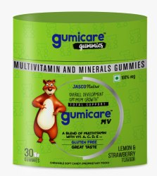 Vitamin A Vitamin C Vitamin D Vitamin E Gummies Lemon and Strawberry Flavour