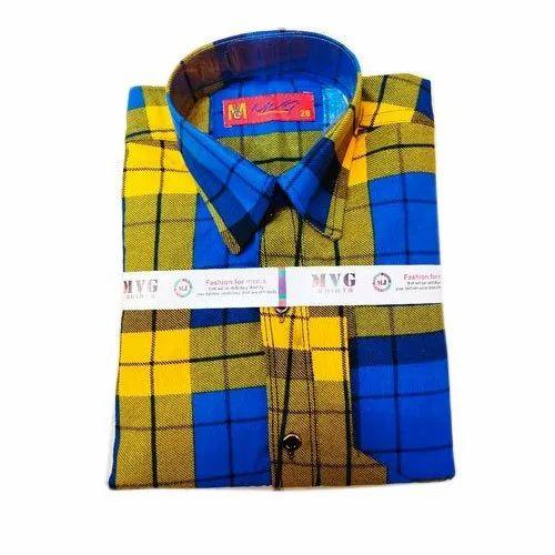 MVG Cotton Kids Check Casual Shirt