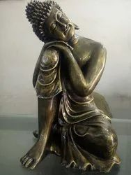 Nodding Head Best Quality And Price Budha Statue, Size: 15 Inch