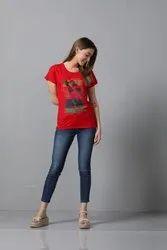 Half Sleeve Casual Wear Girls T-Shirt
