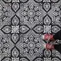 Black Hand Printed Floor Tile