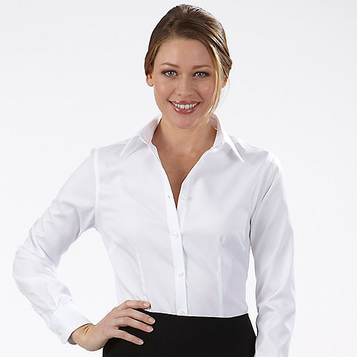 ce96c1ebe2654 White Cotton Formal Ladies Shirts