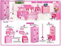 Plastic And Wood Red, Pink Girls Room Furniture
